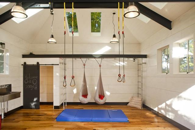 Phòng tập gym đẹp tại nhà ý tưởng tuyệt vời.