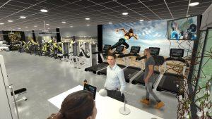 Thiết kế phòng gym 200m2