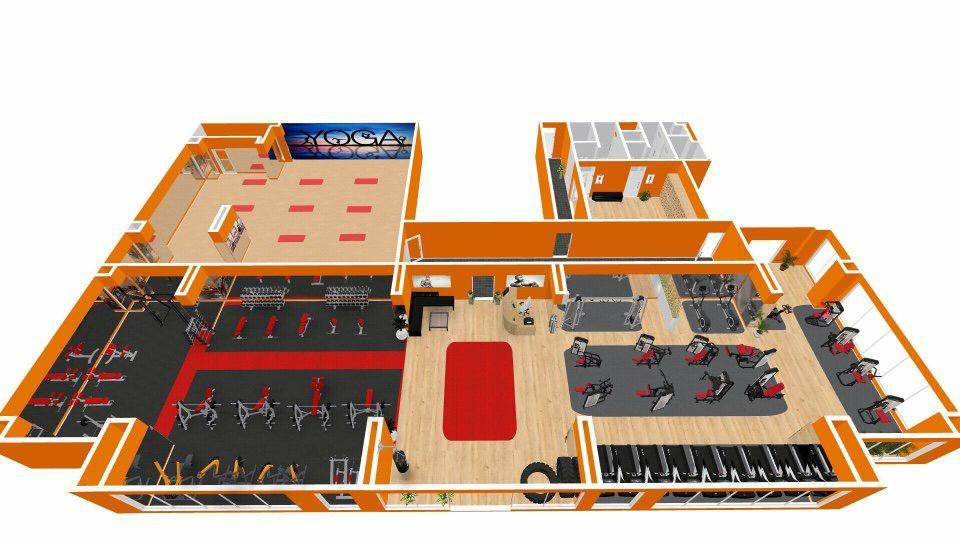 Setup phòng gym khủng ở Thăng Long Hà Nội
