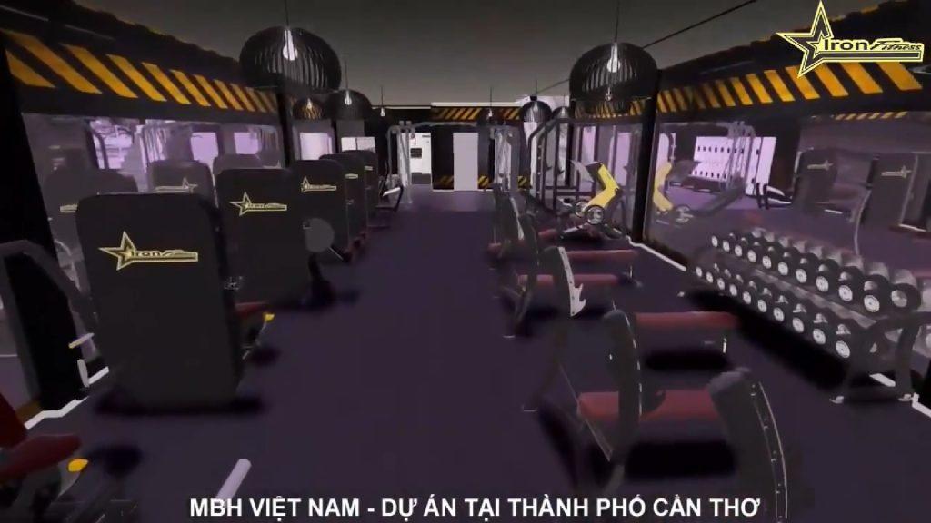 Setup phòng tập gym ở Cần Thơ của mbhfit.vn