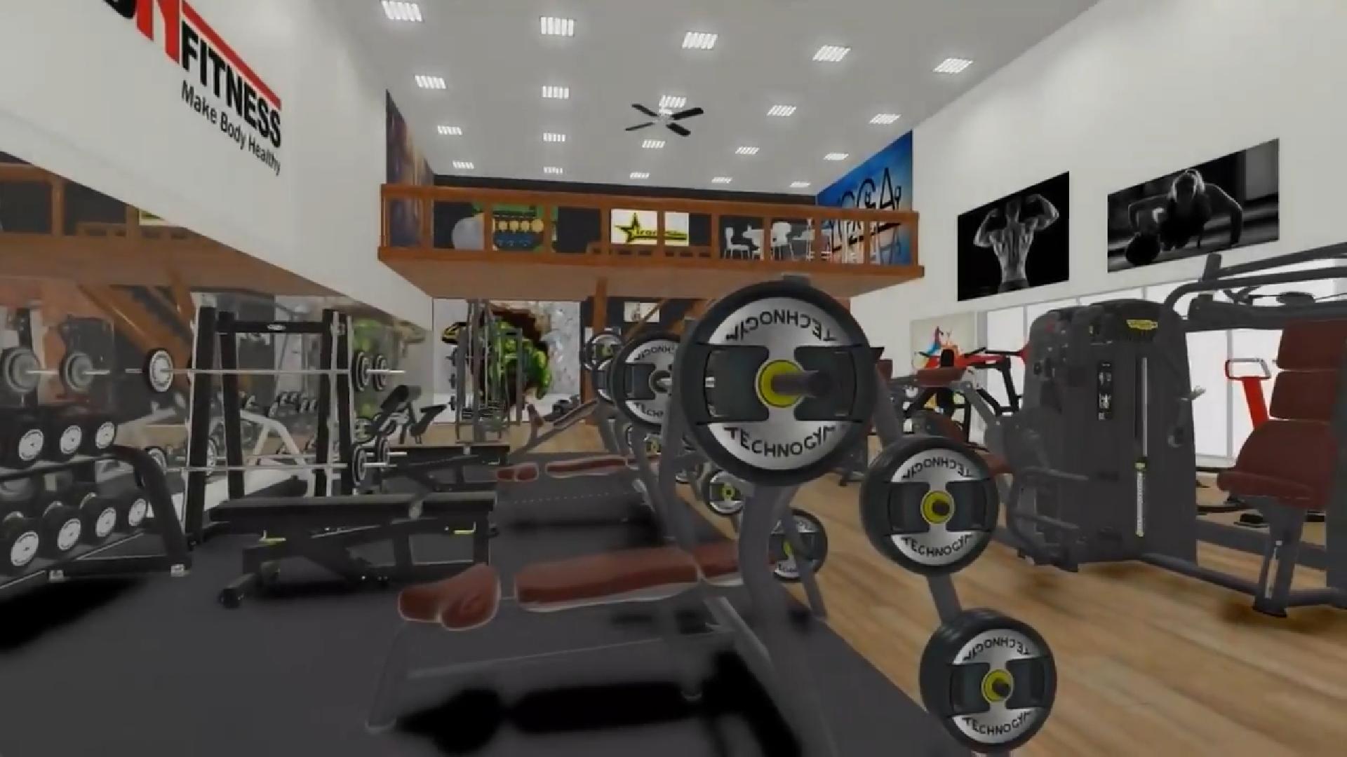 setup phòng tập gym của mbhfit