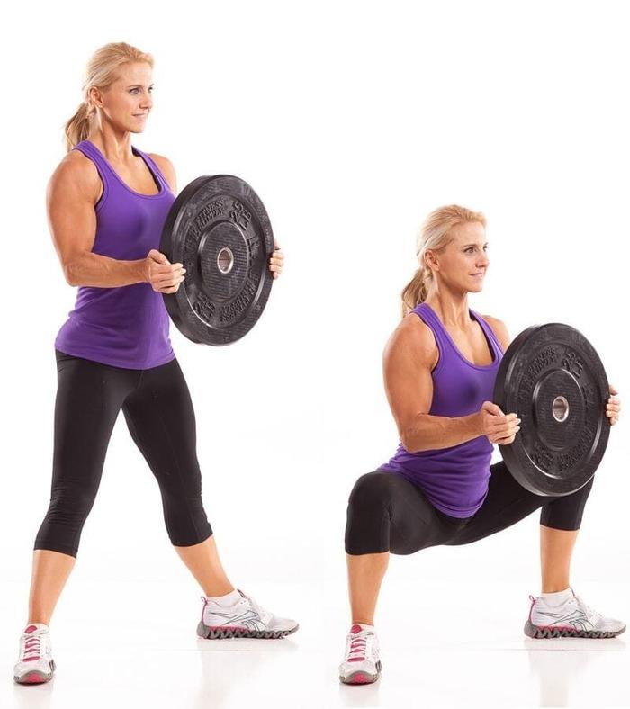 Các bài tập gym hiệu quả bằng tạ miếng