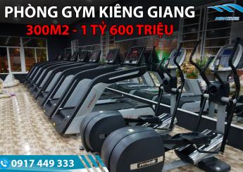 Setup phòng Gym 300M2, 1tỷ 600 triệu
