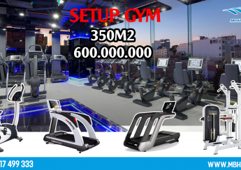 Setup phòng Gym 350m2, 600 triệu