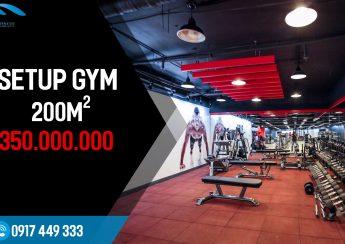 Setp phòng Gym 200m2, 350 triệu