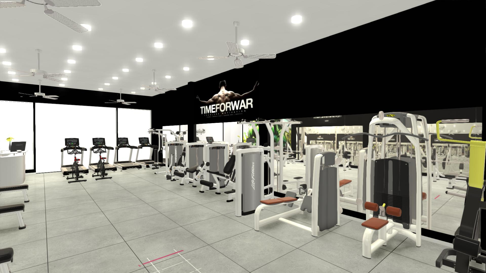 Setup phòng gym 200m2, 400 triệu