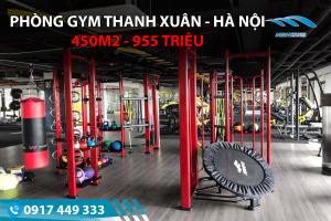 Setup phòng Gym 450m2, 955 triệu