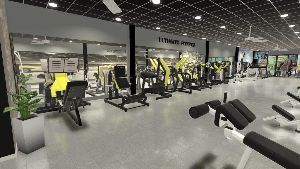 Phòng gym kết hợp quán cà phê